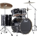 Pearl Export EXX 725S/C Drum Set w/830HW (Jet Black Shell)