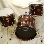 Drummers World Mini Nesting Kit in Mahogany Oil-Stain Finish