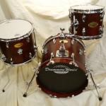 Drummers World Mini Nesting Kit in Mahogany Oil-Stain Finish