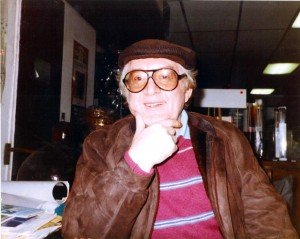 Mel Lewis at Drummers World in the mid-1980s