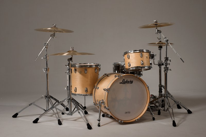 Ludwig Classic Maple Downbeat Shell Pack Natural Maple