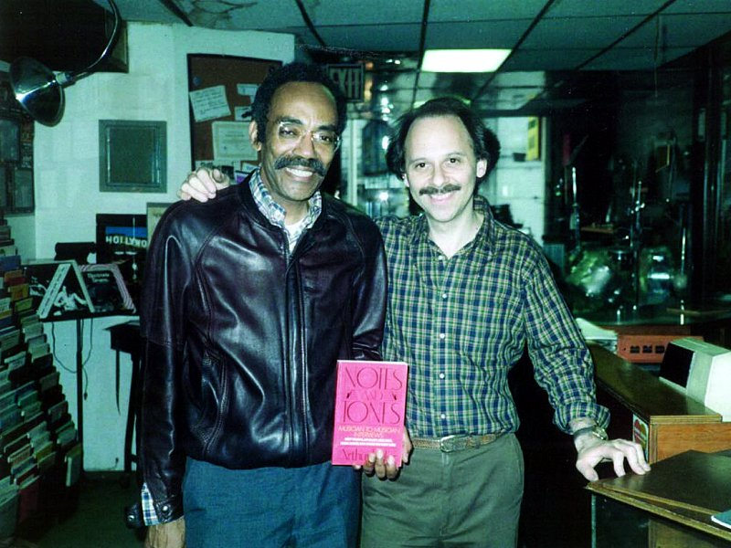 Arthur Taylor and Barry Greenspon at Drummers World in the 1980s