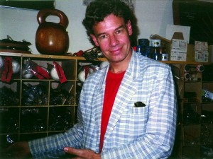 Bill Bruford at Drummers World in the mid 1990s