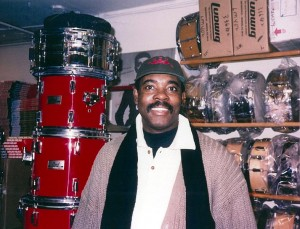 Harvey Mason at Drummers World in the 1980s