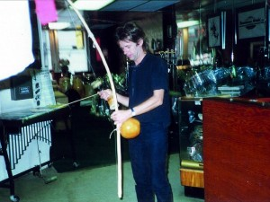 Pick Withers at Drummers World in the late 1980s