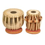 banjira Pro Tabla Set Nickel Plated Brass Bayan and 5.25-Inch Dayan
