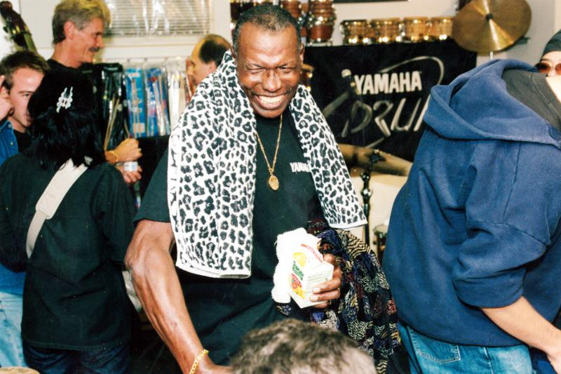 Elvin Jones Clinic at Drummers World after 9/11 in 2001