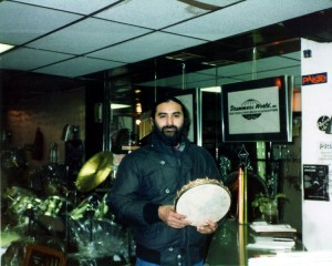 Glen Velez at Drummers World in the mid 1980s