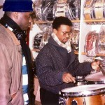 Greg Hutchinson & Clayton Cameron at Drummers World mid 1990s