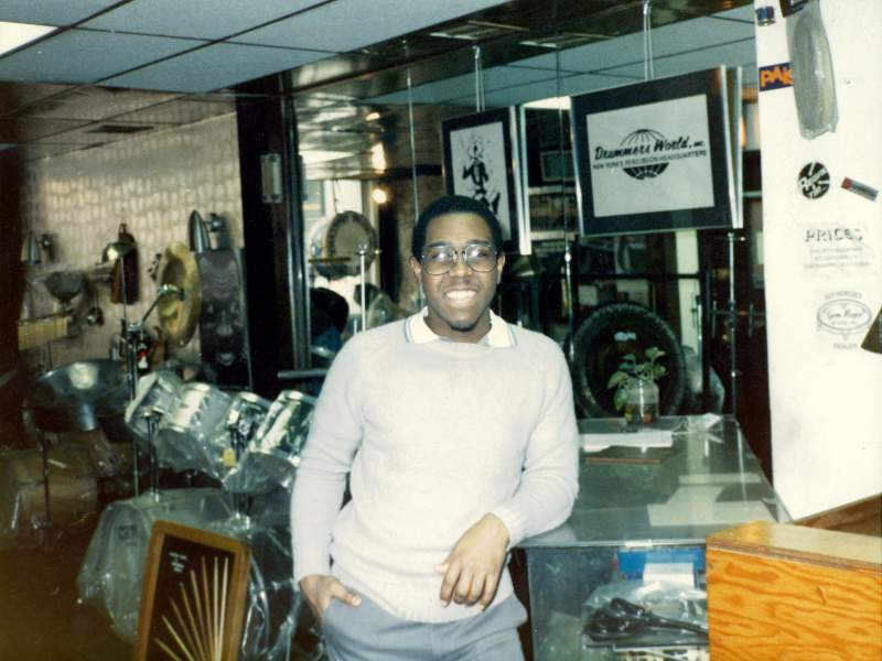 "Marvin ""Smitty"" Smith at Drummers World 1980s"