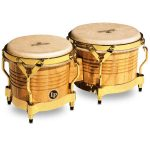 LP M201-AW Matador Bongos in Natural Wood w/ Gold Hdwr